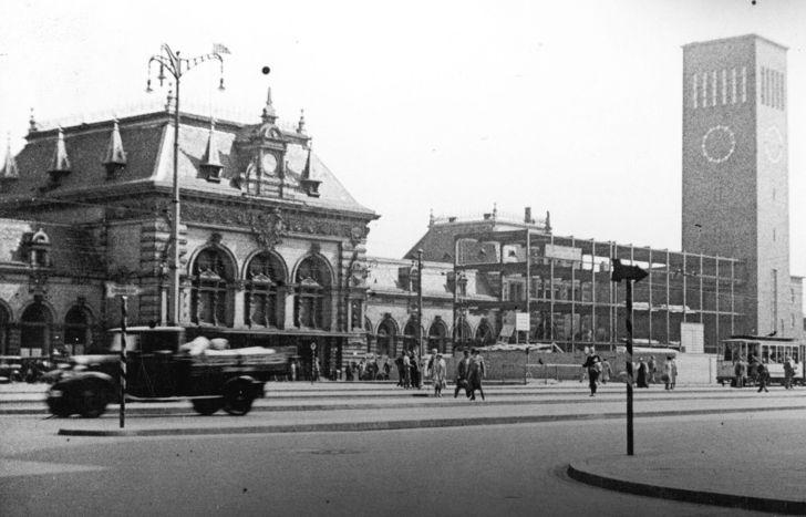 Der Neubau des Hautbahnhofs 1934