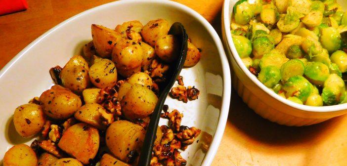 RdW: Nusskartoffeln an Rosenkohl