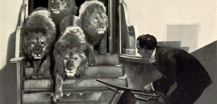 Harry Piel bändigt die Löwen