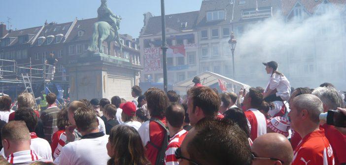 Burgplatz, Mai 2009: Aufstiegsfeier