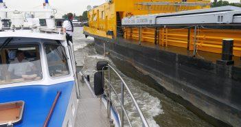 Wasserschutzpolizei: Schiffskontrolle auf dem Rhein