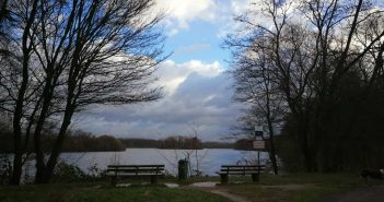 Sturm über dem Unterbacher See