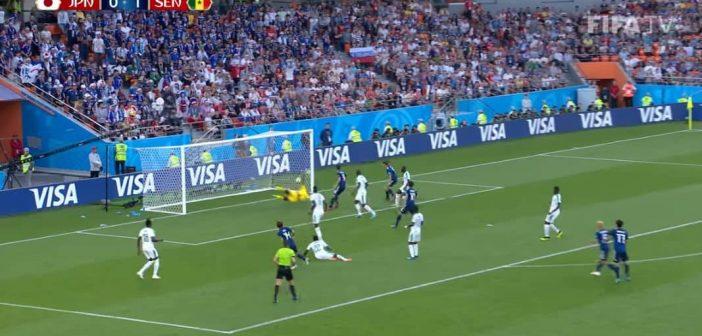 Japan vs Senegal (Screenshot: FIFA-TV)