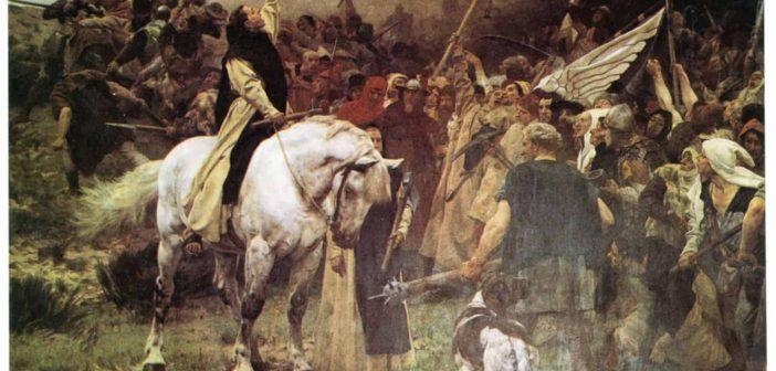 """Gemälde """"Die Schlacht von Worringen"""" (1892) von Johann Peter Theodor Janssen"""