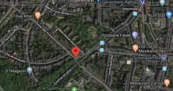 Google-Map: Unter den Eichen in Gerresheim